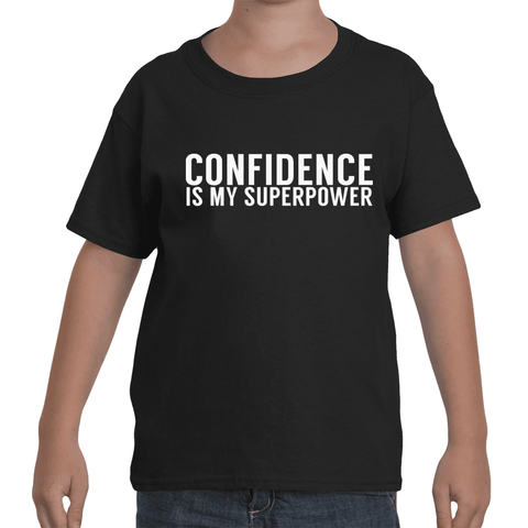 "Kids - Black ""CONFIDENCE IS MY SUPERPOWER"" T-Shirt"