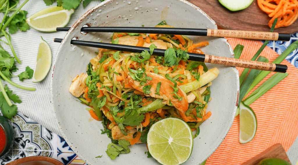 Chicken and Vegetable Noodle Pad Thai