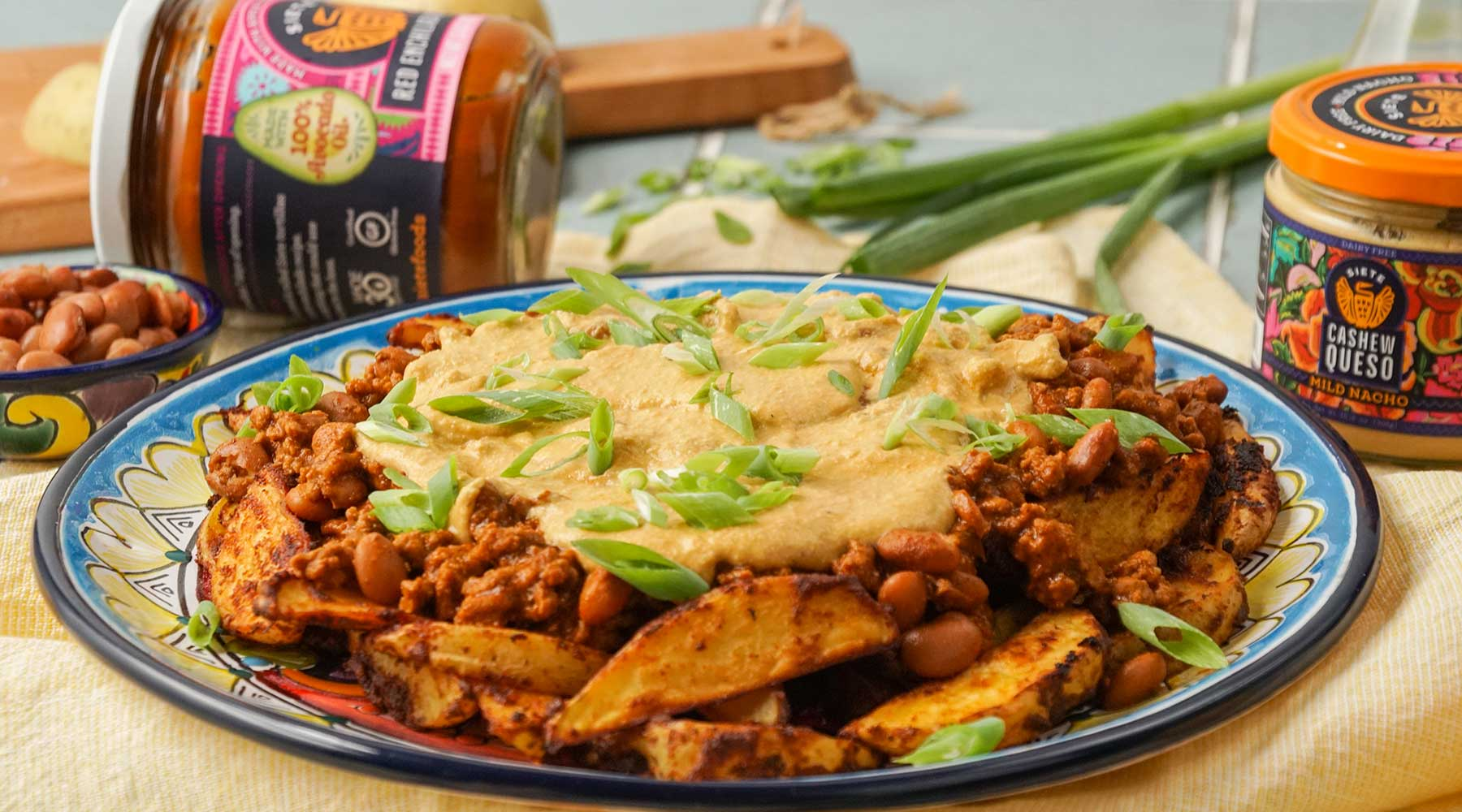 Chili Cheese Loaded Potatoes