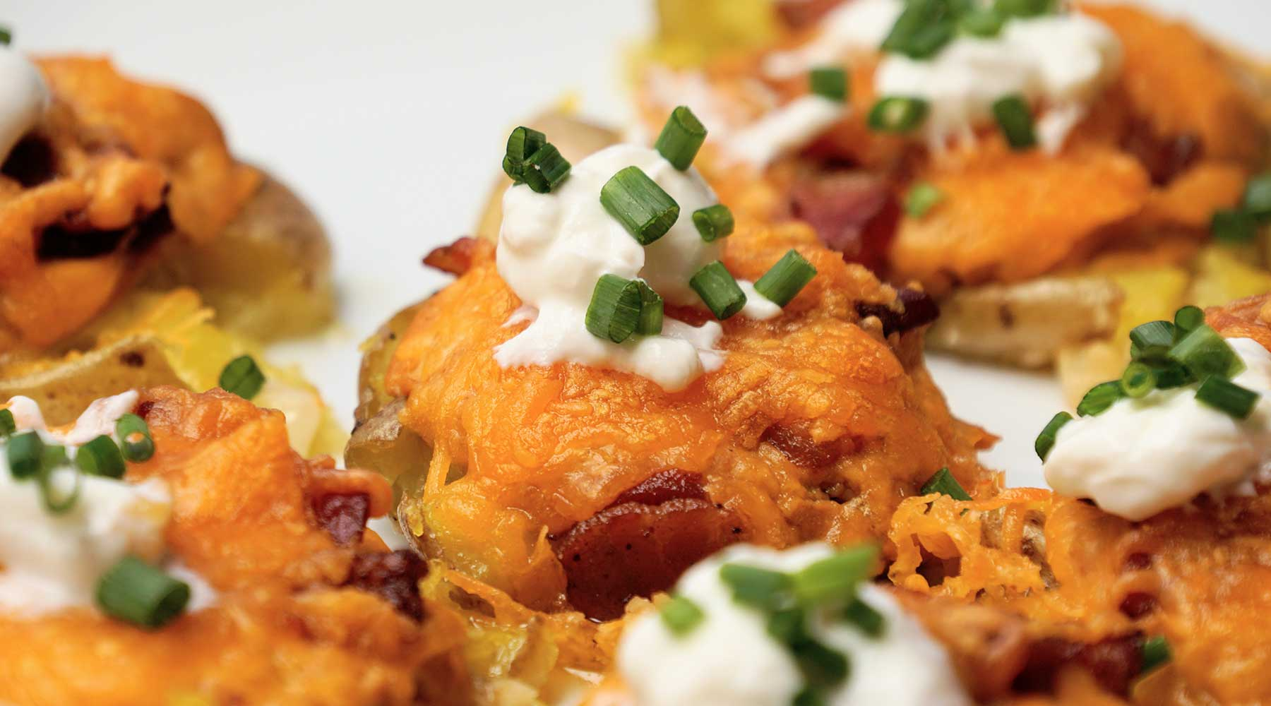 Queso Smashed Potatoes