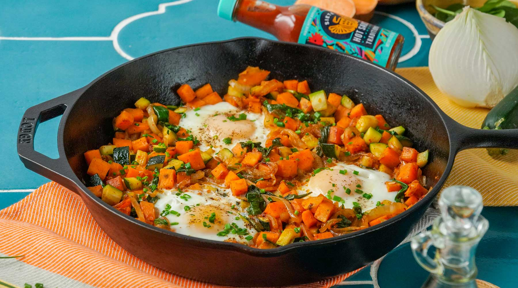 Sweet Potato Zucchini Breakfast Hash