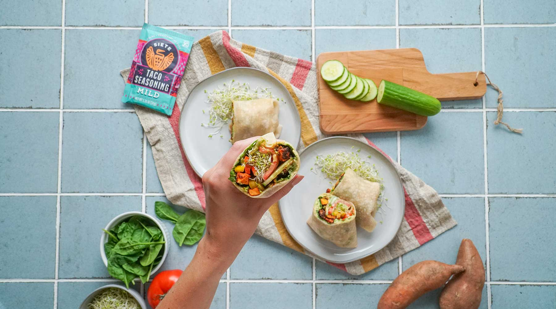 Vegan Rainbow Wrap Recipe