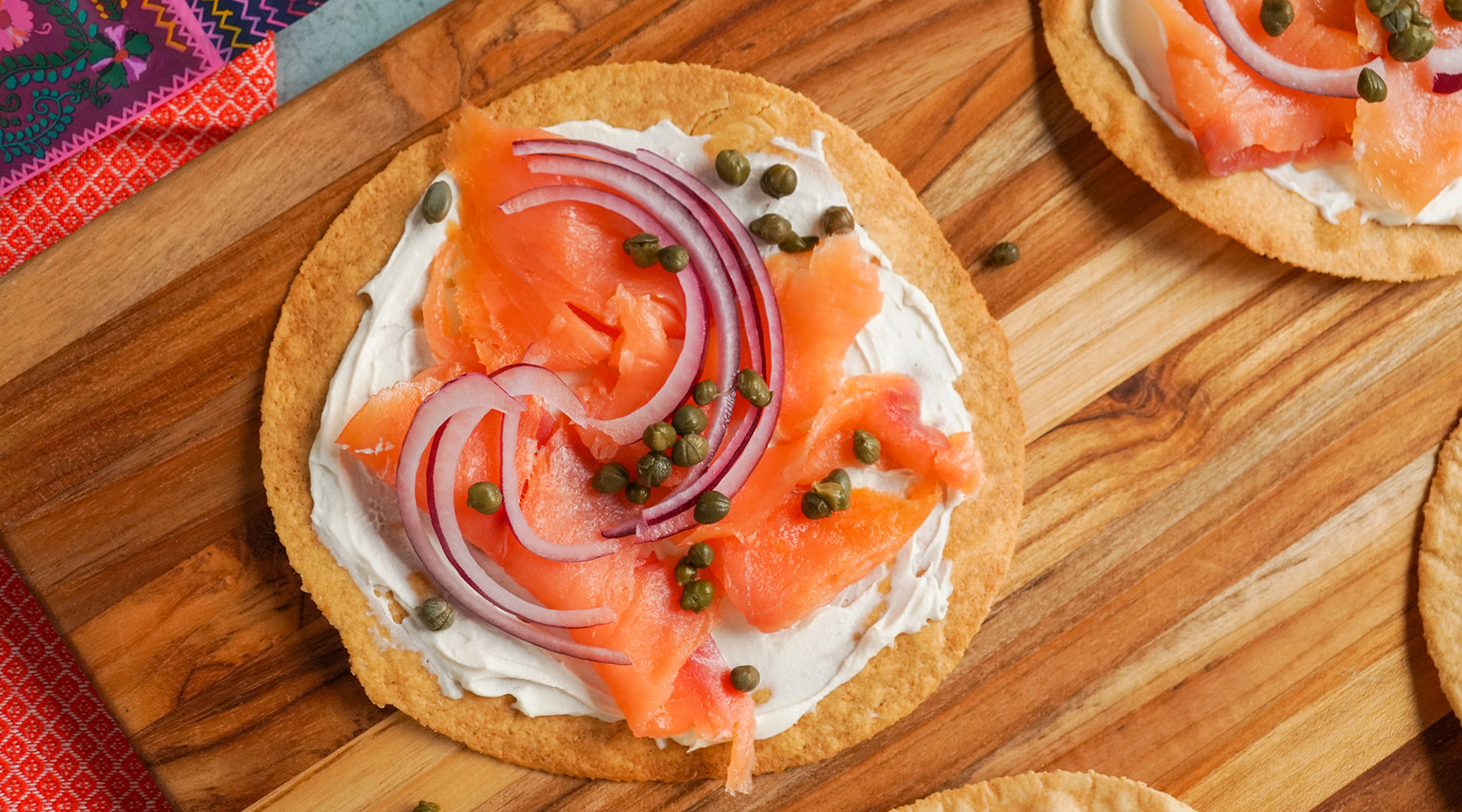 Grain Free Lox Tostada Recipe