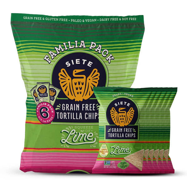 Familia Pack: Lime Tortilla Chips 1oz (18 bags)
