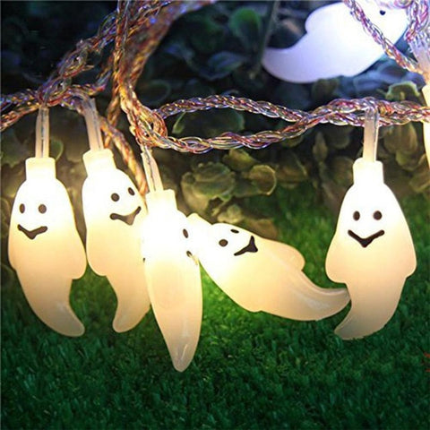 New 1.2M 10LED Ghost String Lights For Halloween Party Decor