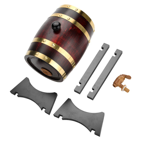 New 1.5L Oak Barrel Beer Brewing keg Wine Barrel for Whiskey Rum Port Decorative Barrel Keg Hotel Restaurant