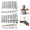 1 Set Metal Leather Craft Tool Die Punch Hole Snap Rivet Fastener Button Setter Base
