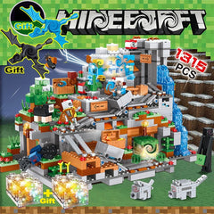 1315PCS My world minecrafted set figures the Cave Dragon endermen  Village Building Blocks