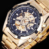 Automatic Watch Luxury Skeleton Mechanical Watches Men's Gold
