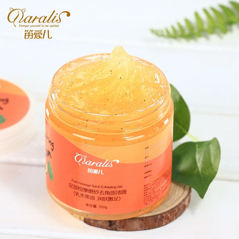 Shea Butter Foot Massage Scrub Cream Anti Wrinkle Whitening Exfoliating Repair Rough Smooth Moisturizing for Feet