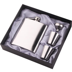 Stainless Steel 200ML Whisky Hip Flask Liquor Alcohol Bottle Wine Vodka Pot with 2 Cups Gift Set for Men
