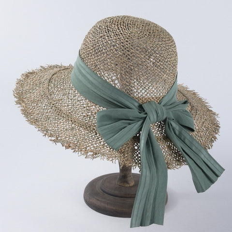 Fashion Breathable Green Straw Beach Sun Hats