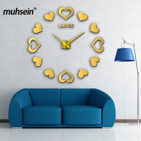 Sticker Decorative Wall Clocks Modern Design Decoration Home 3d Wall Clock