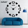 Image of Sticker Decorative Wall Clocks Modern Design Decoration Home 3d Wall Clock