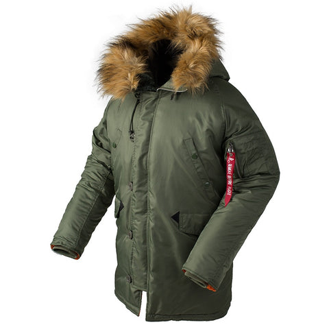 Winter puffer jacket men long canada coat military fur hood warm trench camouflage tactical bomber army korean parka