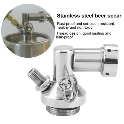 2L Mini Stainless Steel Beer Keg With Faucet, Pressurized Home Beer Brewing Craft, Beer Dispenser Growler, Mini Beer Keg System