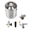 Image of 2L Mini Stainless Steel Beer Keg With Faucet, Pressurized Home Beer Brewing Craft, Beer Dispenser Growler, Mini Beer Keg System
