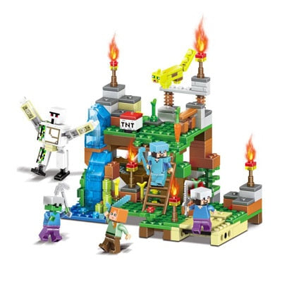 4in1 378pcs My World DIY Garden Figures Building Blocks Compatible With Lego