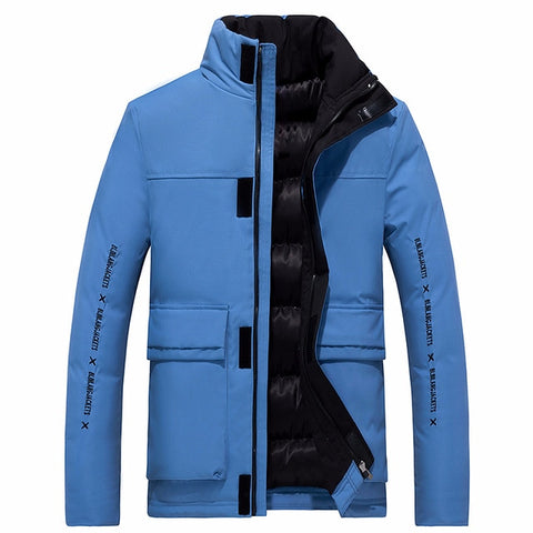 Winter New Casual Thick Cotton Waterproof Pockets Parkas Jacket Men Fashion Outwear Windproof Warm Parka Coat Men