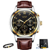 LIGE Men's Watches Military Luxury Brand Watch Mens Quartz Stainless Steel