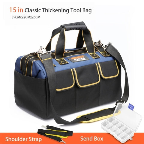 Tool Bag Portable Electrician Bag Multi function Repair Installation Canvas Large Thicken Tool Bag Work Pocket