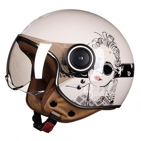 Motorcycle scooter Helmet 3/4 Open Face helmet motocross vintage Casque