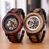 Image of Wooden Watches Men Automatic Mechanical Wristwatch Waterproof