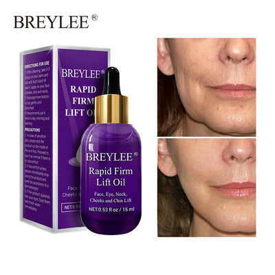 BREYLEE Essential Oils Rapid Firming Lifting Face Essence Oil Massage Anti Wrinkle Anti-Aging Powerful V Shape Facial Skin Care