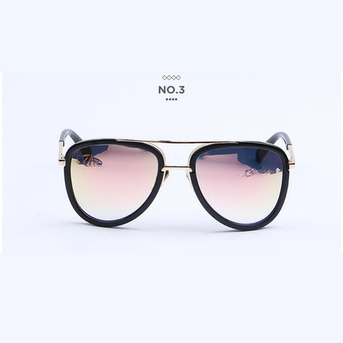 Luxury Driver Glasses For Men Brand Designer Women Mirror Double Sun Glasses