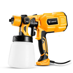 Spray Gun, 550W 220V High Power Home Electric Paint Sprayer, 3 Nozzle Easy Spraying and Clean Perfect for Beginner