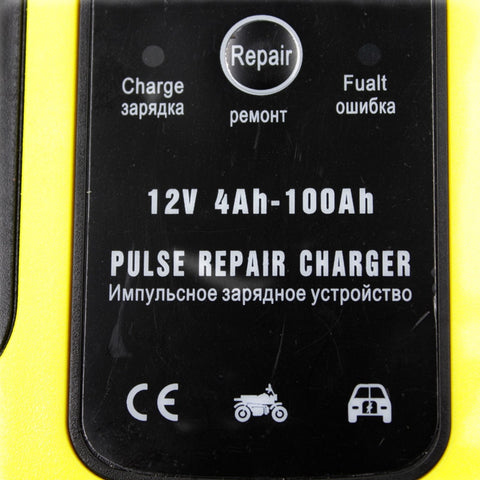 Fast Power Charging Automatic Car Battery Charger 110V to 220V To 12V 6A  Digital LCD Display