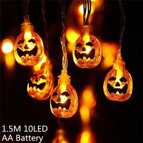 Halloween Pumpkin LED String Lights Lantern House Party