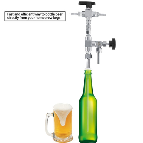 Home  brew  Stainless Steel Counter Pressure Beer Bottle Filler Home Brew CO2 beer brewing Kit