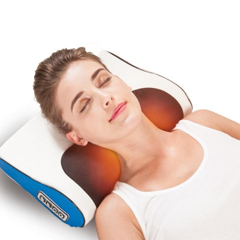 Infrared Heating Neck Shoulder Back Body Electric Massage Pillow Healthy Relaxation