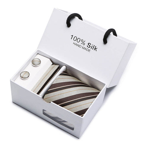 New high-quality men's ties 8 cm gravatas dos homens tie set ties for men striped neckties gift box packing