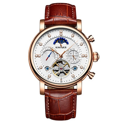 Top Brand Mens Mechanical Watches Automatic Tourbillon Skeleton Watch Men