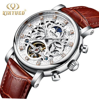 Automatic Mechanical Watches Men Phase Waterproof Mens  Luxury Wristwatches