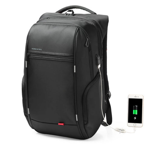 Backpack 13'' 15'' 17'' Laptop Backpack USB Charger Bag Anti-theft Backpack Fashion Kingsons