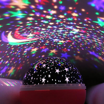 LED Rotating Star Projector Novelty Lighting Moon Sky Rotation