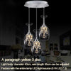 Image of MLZAOSN LED Lighting Crystal Hanging Wine Glass Lamps