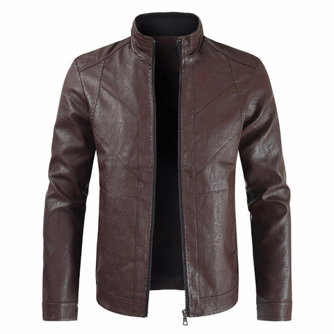 Faux Leather Heated Jacket Men's Coats & Jackets