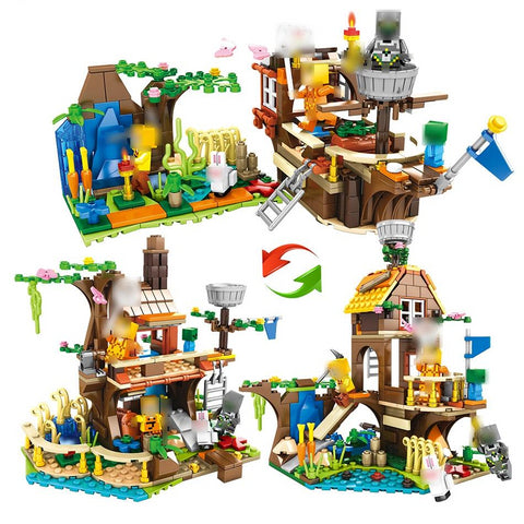Building Blocks Compatible Legoed Minecrafted City Figures Educational Luminous Brick Toys For Children