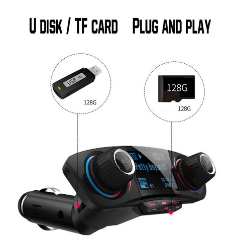 New Car MP3 Player FM Transmitter Multi-Function Bluetooth Receiver Support U Disk/TF card Car Charger Car Cigarette Lighter