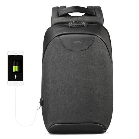 Fashion Backpacks 15.6inch USB Charging Laptop Mochila 18L College School Backpack