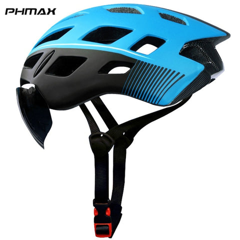 Bicycle Helmet EPS Insect Net Road MTB Bike Windproof 2 Lenses Integrally-molded Helmet Cycling Casco Ciclismo
