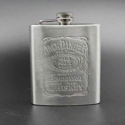 Pocket Portable Stainless Steel Hip Flask 7oz Wine Mug Wisky Bottle With Box Mini Drinkware Alcohol Bottle For Drinker Men Gifts