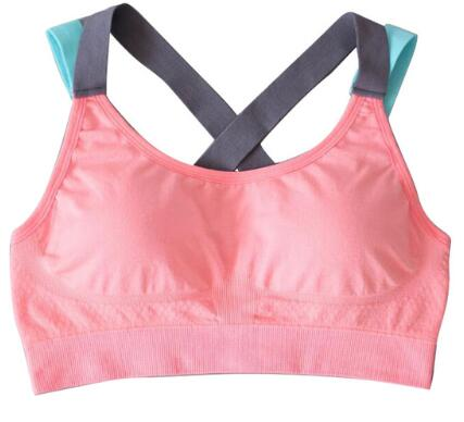 Women's Sports Bra Full Cup Breathable Top Shockproof Cross Back Push Up