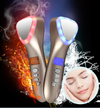 Ultrasonic Cryotherapy LED Hot Cold Facial Lifting Vibration Massager Face Machine