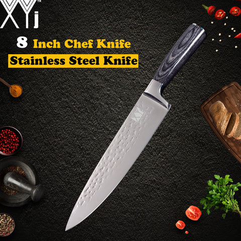 Stainless Steel Knife 8 inch Color Wood Handle