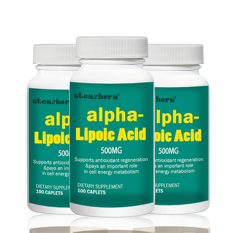 universal antioxidant 3 Bottles Alpha Lipoic Acid 500mg 100pcs   Total 300PCS